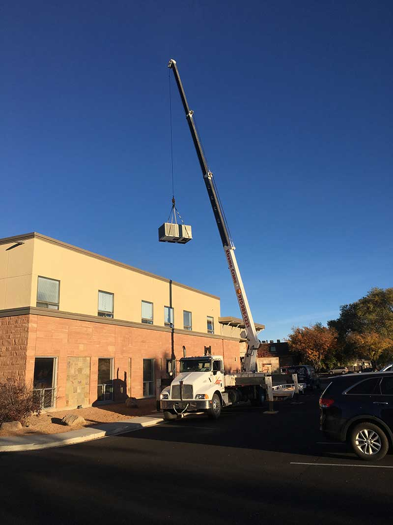 Our truck providing crane services in aspen co